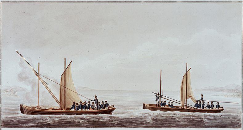 Fusée de Congrève - Navire - marine - bateau - lancement
