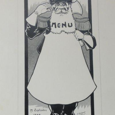dessin encre de chine sapeur porte hache , centenaire des sapeurs pompiers de Chatellerault Ernest Genault