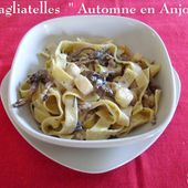 Tagliatelles aux girolles, noix, Roquefort et saint-Jacques de Mamigoz - Chez Mamigoz
