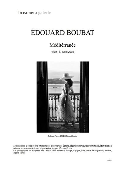 Exposition à Boubat à Paris