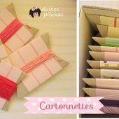 dulces pilukas: Cartonnettes reciclados muy fáciles.