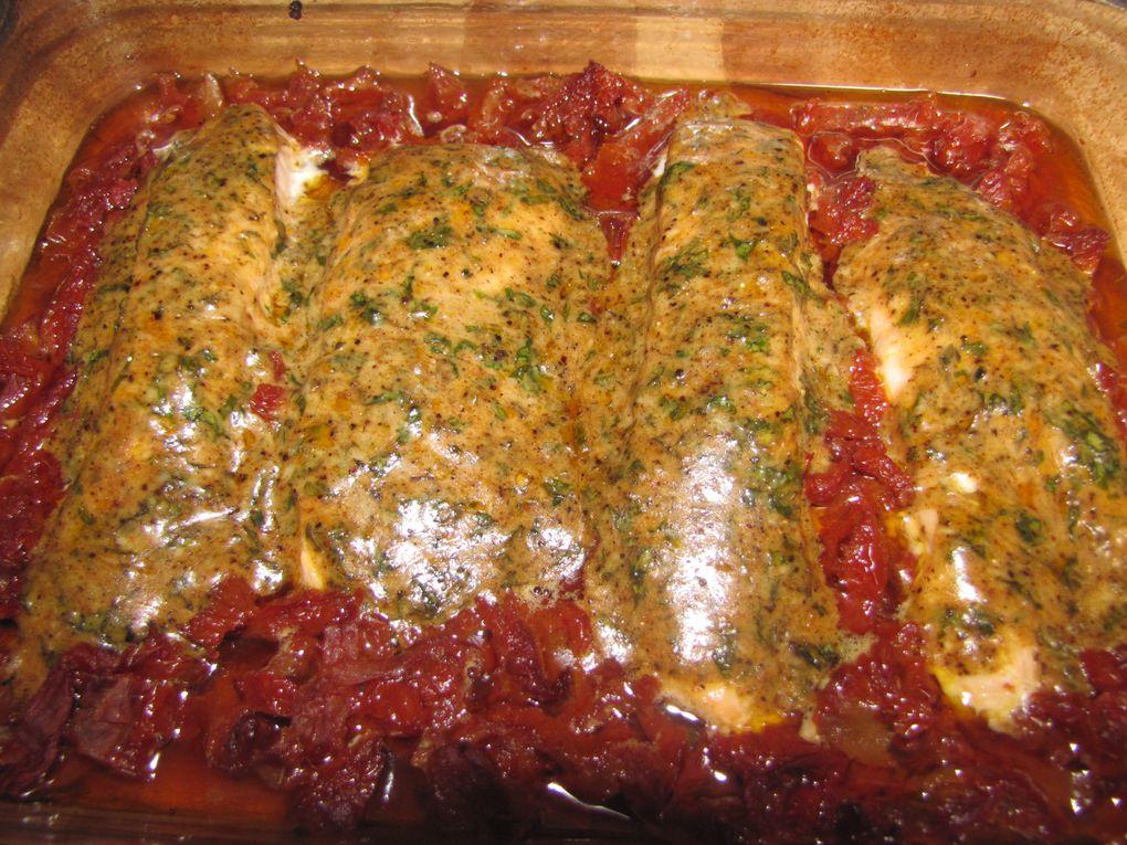 Saumon au basilic et parmesan