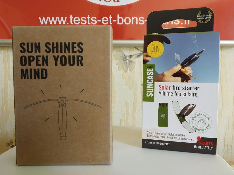 unboxing du briquet solaire Suncase Gear de Solar Brother @ Tests et Bons Plans
