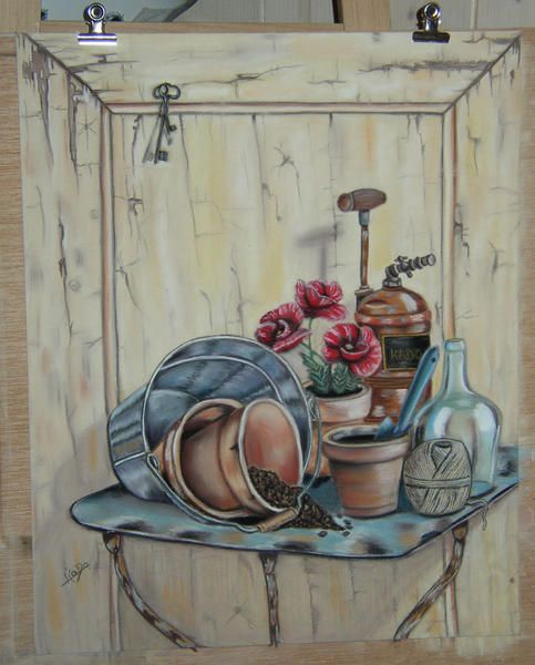 <p>Voici mes modestes oeuvres... J'ai commencé le Pastel Sec et la peinture il y a maintenant bientôt 3 ans... C'était un rêve depuis longtemps...</p> Malheureusement, avec le travail, les enfants, la maison....j'ai peu de temps à y consacrer..