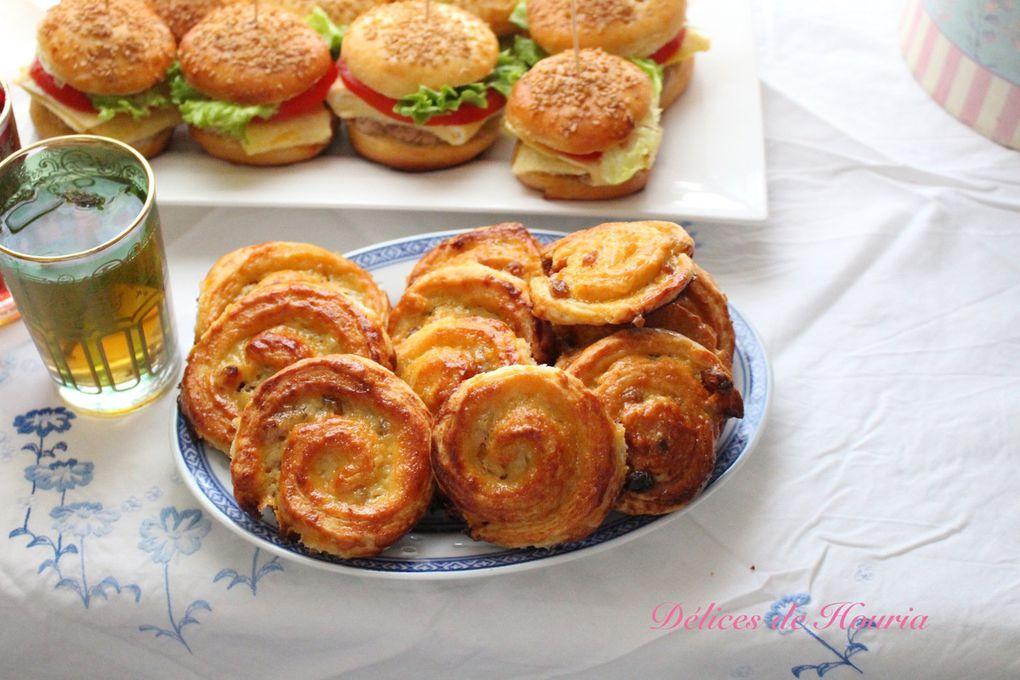 Mini burgers & pains aux raisins