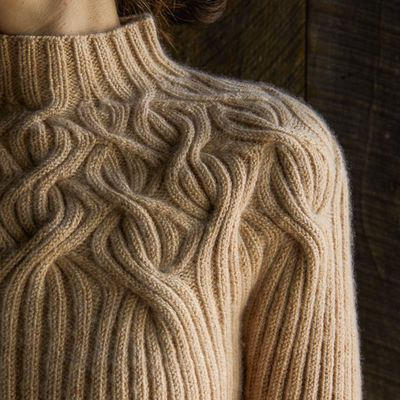 Tricot : esprit naturel avec le Botanical yoke pullover de Purl Soho