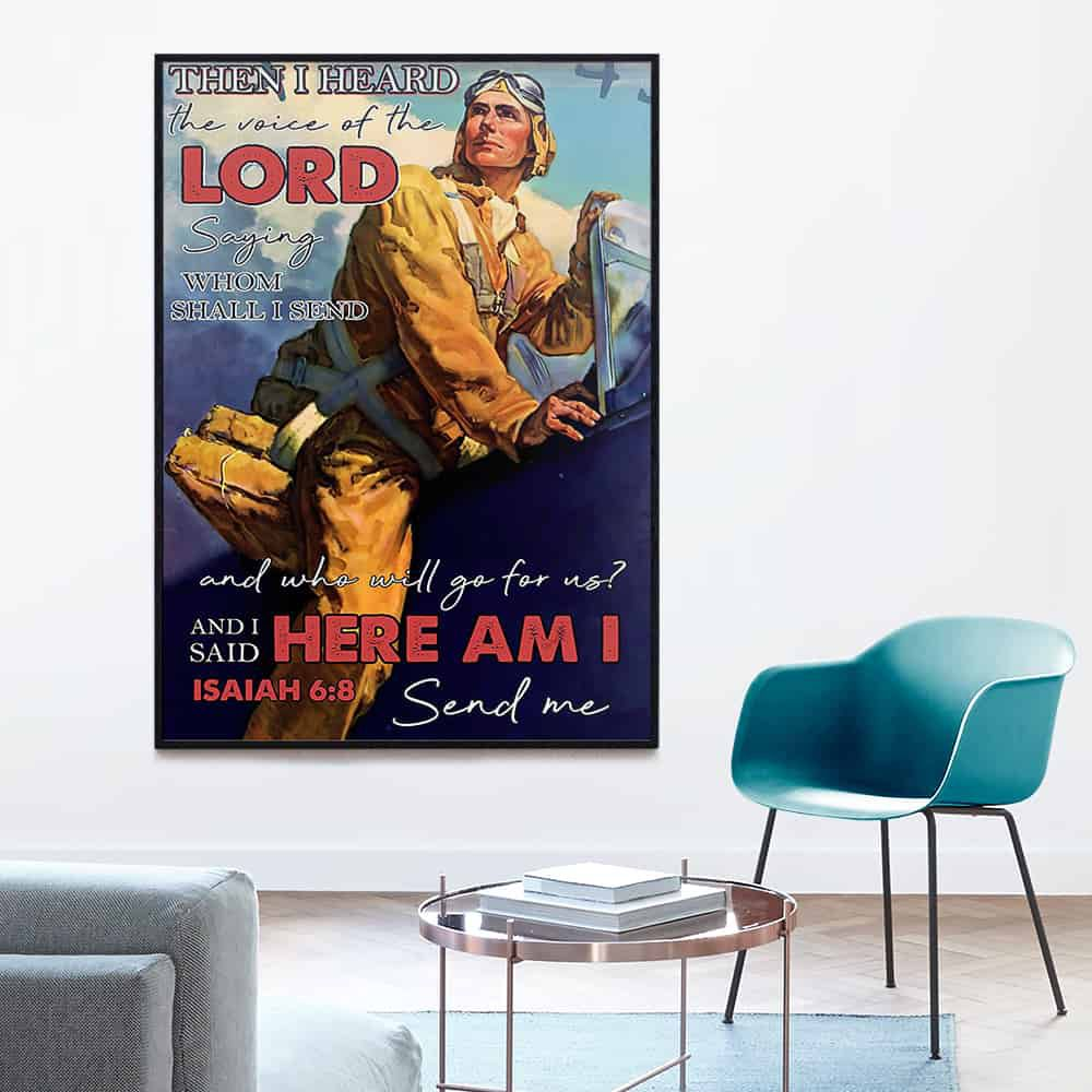 Pilot Then I Heard The Voice Of The Lord Send Me poster, canvas