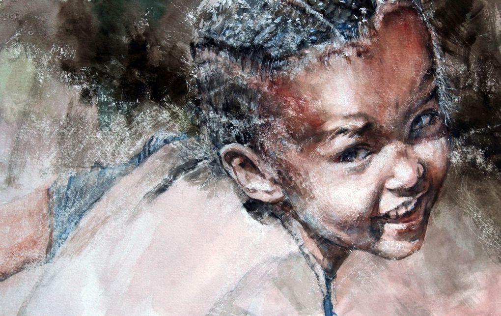 Eth de Mélaou expose au festival international Landes aquarelle du 12 au 20/09/2020
