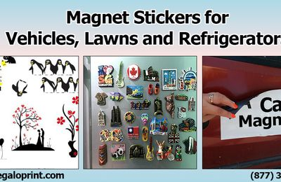 Magnet Stickers for Vehicles, Lawns and Refrigerators
