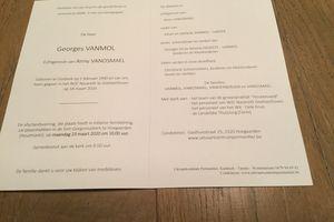 AVIS DE DECES DE GEORGES VANMOL (New) !