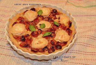 tarte aux tomates cerises confites