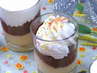 Crèmes - Deux saveurs - Chocolat - Vanille - Chantilly - Recette - Repas - Dessert - Thermomix - Vermicelles