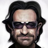 Caricature Bono - U2 BLOG