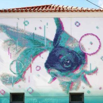 Street Art et point de croix par Aheneah