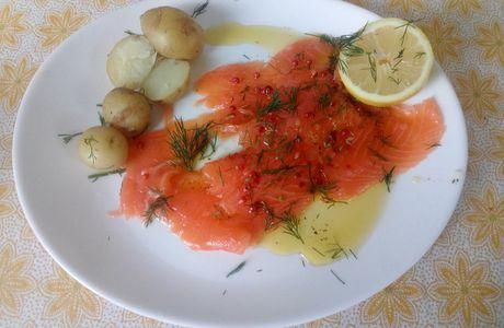Carpaccio de saumon  🐟 aux herbes 🌿