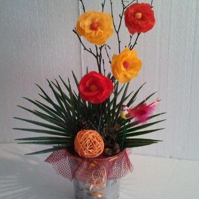 bouquet automne orange rouge