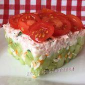 Salade de concombre au surimi et crème de jambon -LIGHT- - auxdelicesdemanue