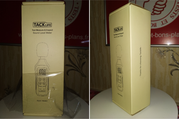 unboxing du sonomètre portable Tacklife MLM02 @ Tests et Bons Plans