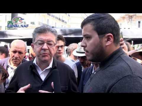 Jean-Luc Mélenchonrepart en campagne pour les législatifs à Marseille.