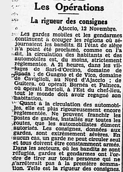 """""""Le Petit Provençal"""" 13 novembre 1931."""