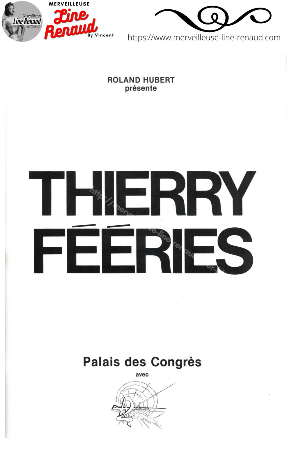 "DOCUMENTS: Programme Thierry Le Luron ""Thierry Fééries"" 1980"