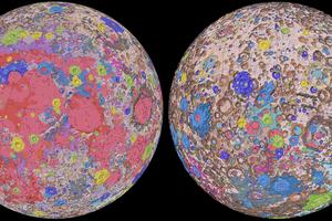 月の地質地図 Carte géologique de la lune
