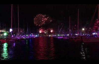 Transat Jacques Vabre - Direct depuis le feu d'artifice du bassin Paul Vatine du port du Havre