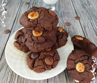 Cookies vegan 3 chocolats