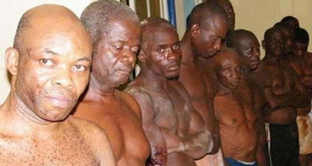 Imágenes de algunos biafreños encarcelados por exigir la secesión de su tierra Biafra del Estado nigeriano.- El Muni.