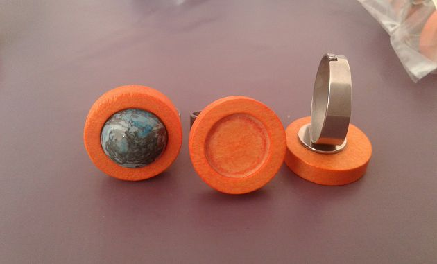 12mm,bois orange,acier inoxydable,base bague ajustable,collage cabochon rond,fond plat,image verre fimo,fourniture bricolage mercerie,boheme bobo gothique,art deco contemporain,zen durable ecolo,punk mode fashion