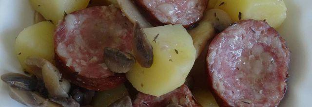 Pommes de terre et saucisse de Morteau, au Cookéo ou pas