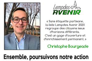 Portrait d'un candidat : Christophe Bourgeade