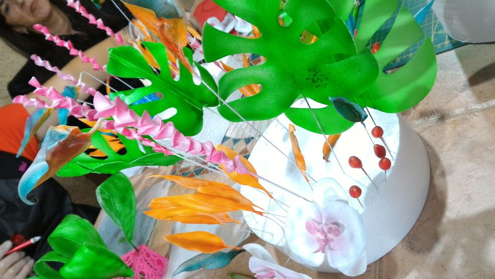 ATELIER BOUQUET EXOTIQUE EN WAFER PAPER AVEC CINDY SAUVAGE DE MADL CREATIONS