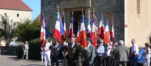 LE SOUVENIR FRANCAIS A  PARTICIPE A LA COMMEMORATION DE  LA LIBERATION DU VILLAGE DE BOUGEY