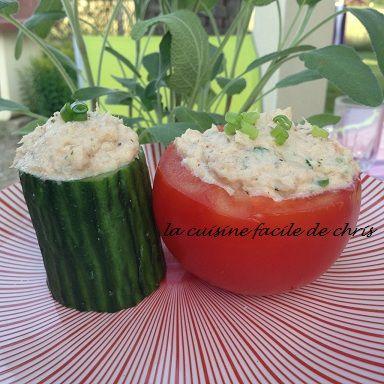 Tomates et concombres farcis