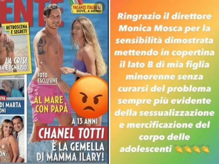 La risposta di Ilary Blasi e Francesco Totti alla cover di Gente