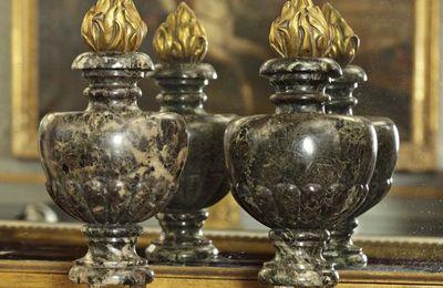 Paire de Pots à Feu, marbre et bronze doré, 19 ème siècle