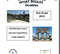 Programme Championnat de France Crédit Agricole 18 & 19 mai 2012