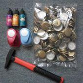Embellissements recup : capsules et boutons - le Scrap de véro