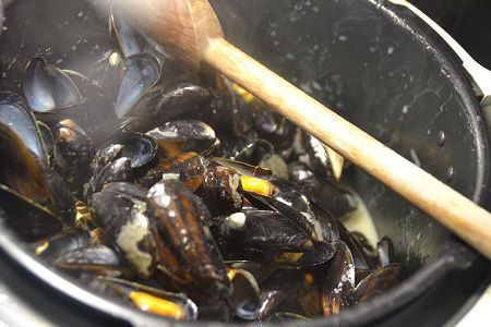 Moules sauce curry moutarde  recette cookeo