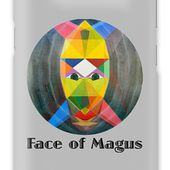 Face Of Magus Text Galaxy Case for Sale by Michael Bellon