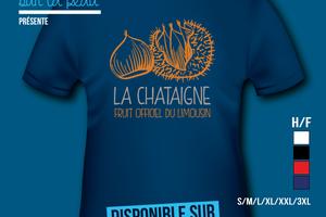 T-shirt France - Limousin - La chataigne du Limousin