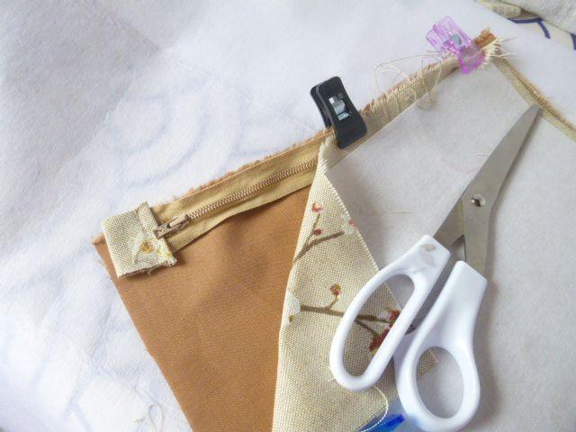 60cm de tissu=1 sac+1 trousse+1 porte-monnaie+1 porte clé+1 étui à lunettes