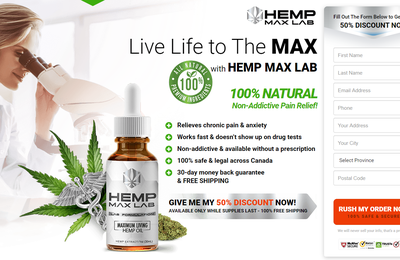 Hemp Max Lab Oil Canada{CA}: Read Reviews | Hemp Oil | Right Price & Buy Now!