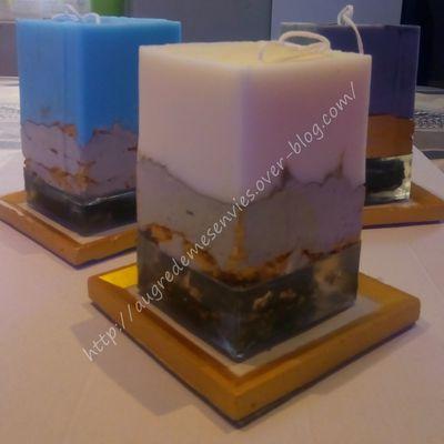 J'ai essayé de faire des bougies composées