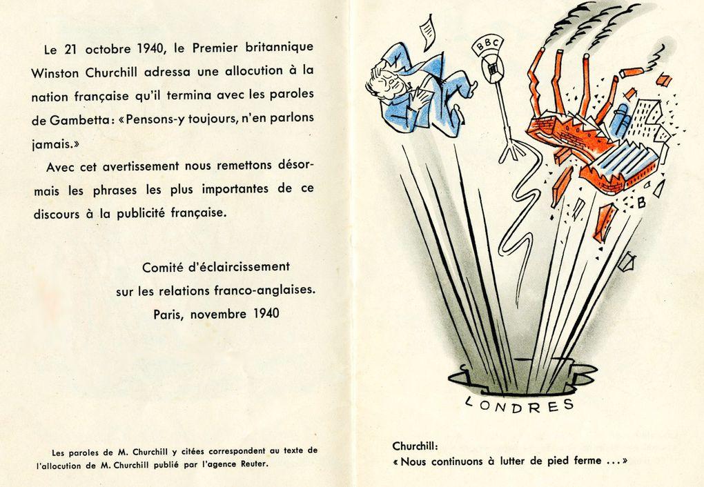 Paroles dorées de Mr. Churchill adressées à la nation française.