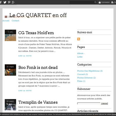 Le CG QUARTET en off