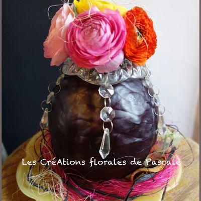 Bouquet de chou et de fleurs