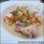 Saumon en curry rouge