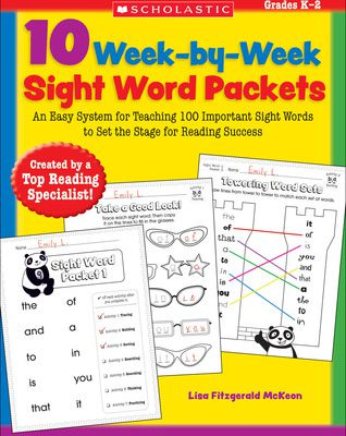 (kindle) Download 10 Week-by-Week Sight Word Packets: An Easy System for Teaching 100 Important Sight Words to Set the Stage for Reading Success By Lisa Fitzgerald McKeon Ebook Online Free